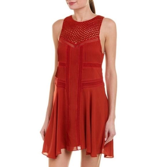 A.L.C. Dresses & Skirts - A.L.C Elin Crochet Silk Dress Chili Red